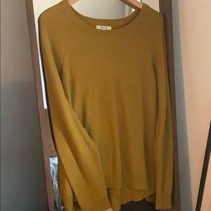 Madewell open back mustard sweater